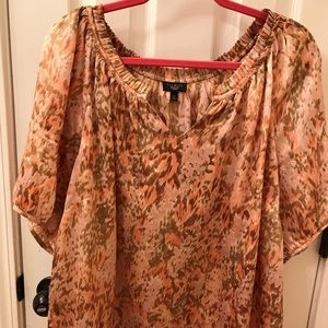 Talbots blouse short sleeves